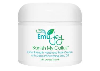 white jar of emu oil cream