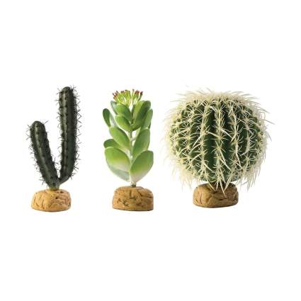 Exo terra plastic cacti bearded dragon tank decor