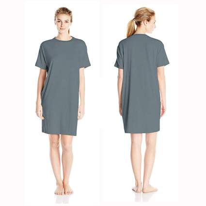 gray bamboo sleep tee