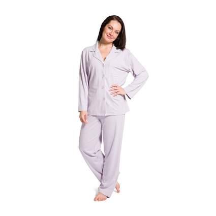Woman in lavender PJ set
