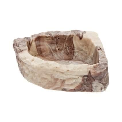 Fluker's stone corner bowl bearded dragon tank decor