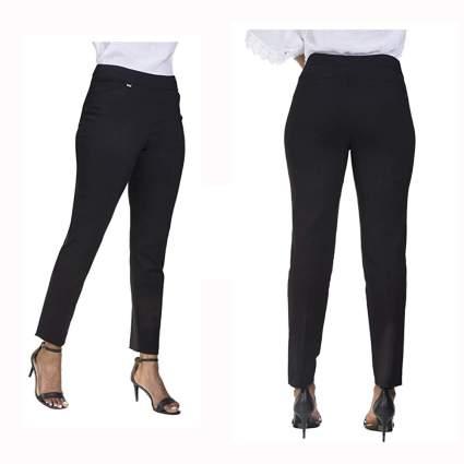 black slim leg tummy control pants