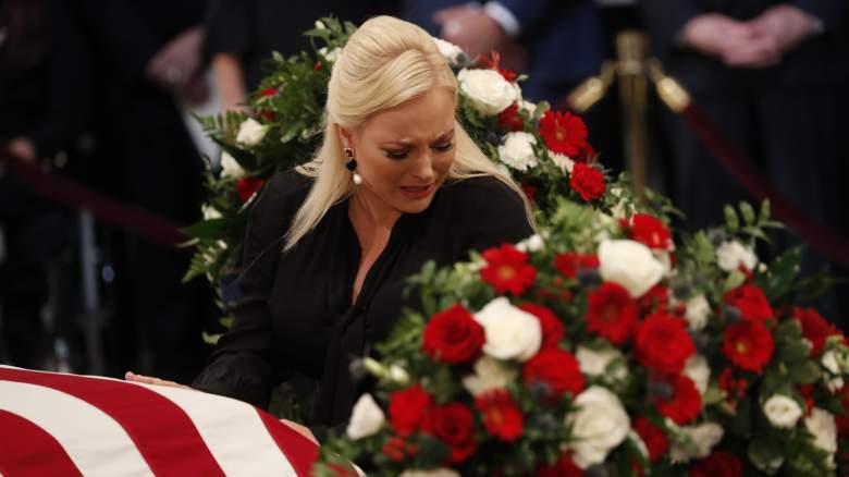 Meghan McCain at John McCain casket
