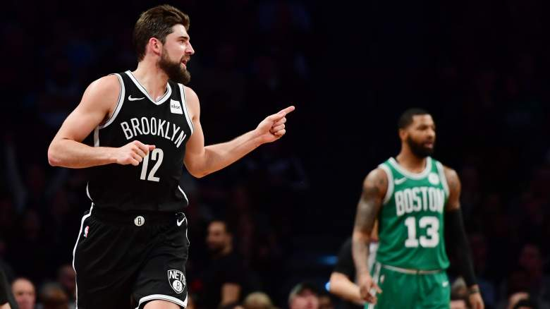 Joe Harris #12 of the Brooklyn Nets
