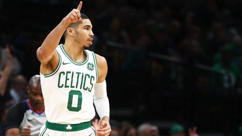 Jayson Tatum of the Celtics