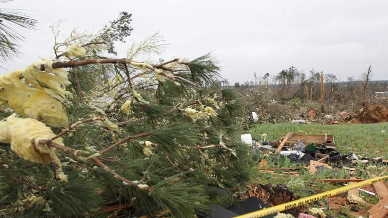 Damage Following Lee County Tornado Alabama