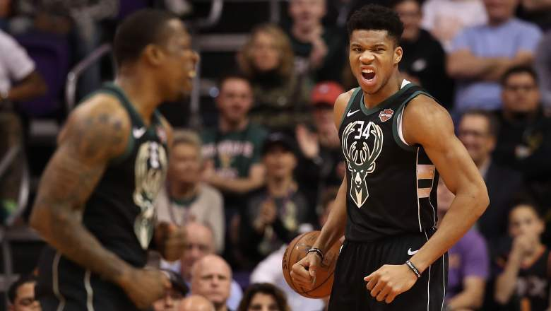Giannis Antetokounmpo of the Bucks