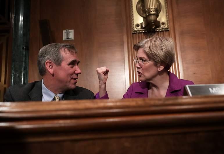 Jeff Merkley with Elizabeth Warren