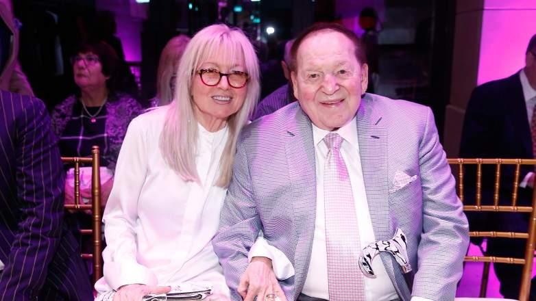The chairman and chief executive officer of the Las Vegas Sands Corporation Sheldon Adelson (R) and wife Miriam Adelson