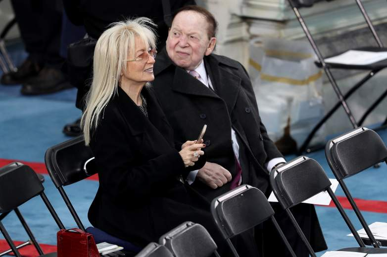 Sheldon Adelson With His Wife, Miriam At Donald Trump's Inauguration Ceremony