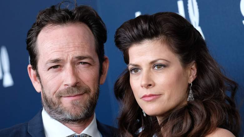luke perry with fiancee wendy madison bauer