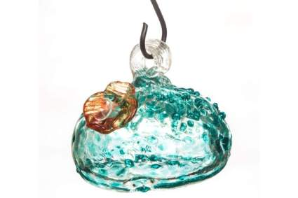 Goose Creek Glass Hanging Hummingbird Water Feeder