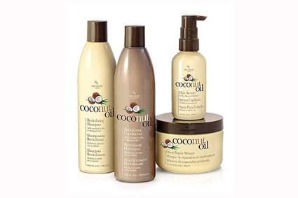 coconut oil hair care set