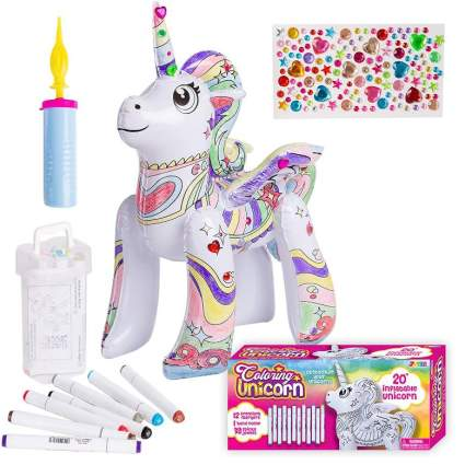 Inflatable Unicorn Coloring Craft Toy