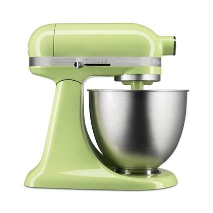pastel green KitchenAid mixer