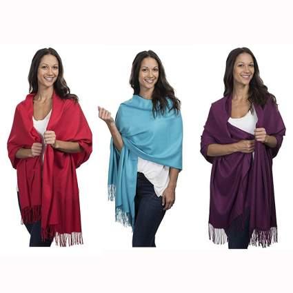 Large pure cashmere shawl