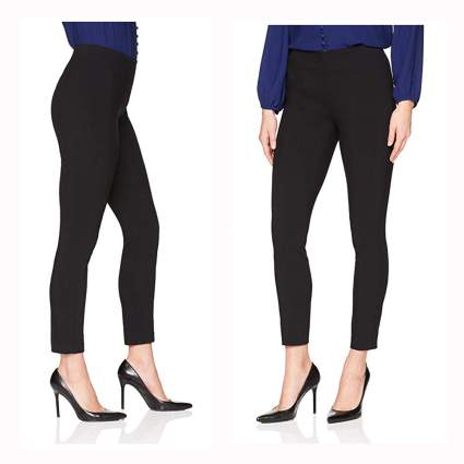 black slimming stretch pants