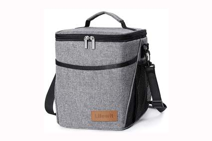 gray thermal lunchbox for adults