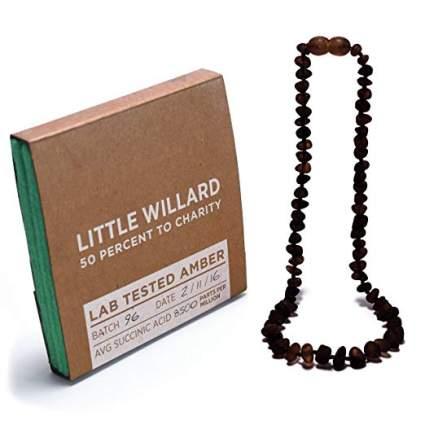Little Willard Baltic Amber Teething Necklace