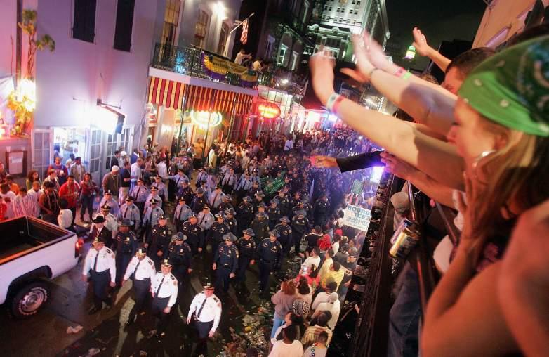 Mardi Gras parade ending