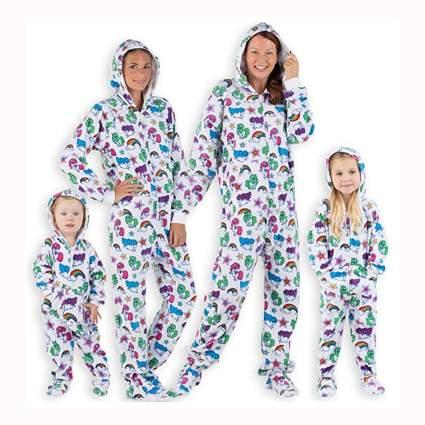 matching family unicorn onesie pajamas