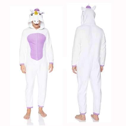 white and purple men's unicorn union suit