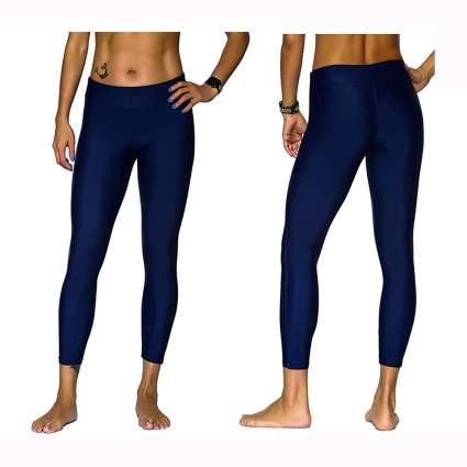 dark blue capri swim leggings