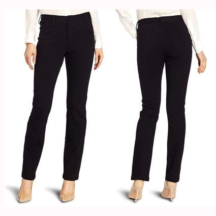 black slimming ponte knit pants
