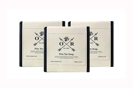 pine tar and charcoal soap