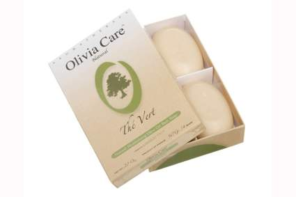 olive oil and green tea soap bar