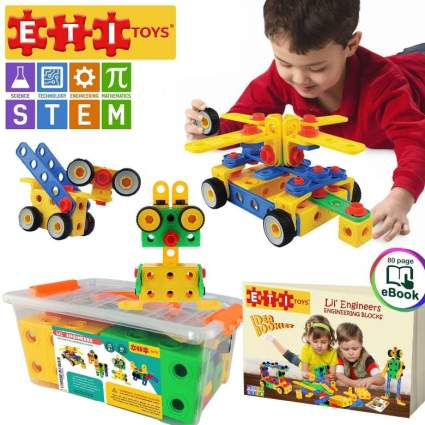 Original STEM 101 Piece Educational Construction Engineering Building Blocks