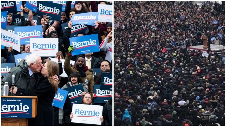 Bernie Sanders Brooklyn Crowd Size Photos