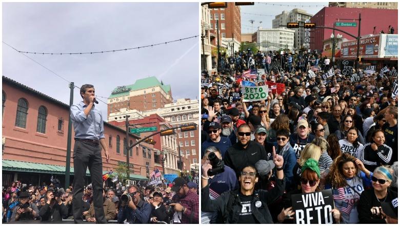 Beto in El Paso Crowd Photo
