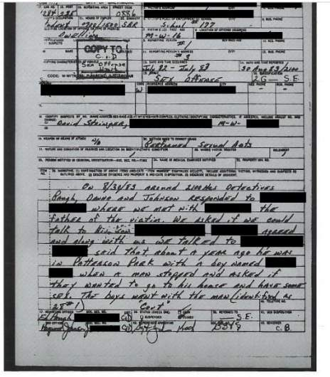 david stringer 1983 police report page 1