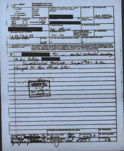 Page 3 of the 1983 police report detailing the David Stringer investigation