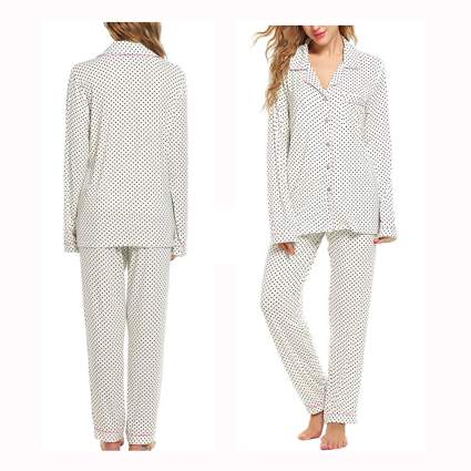 polka dot man style bamboo pajamas