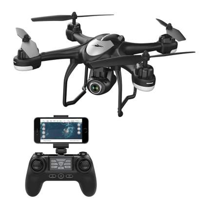 black drone with controller
