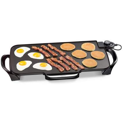 griddle with breakfast