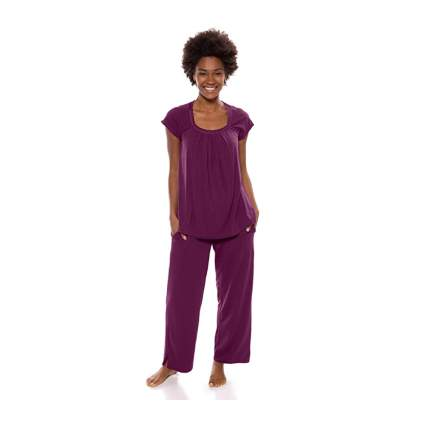 purple bamboo rayon pajamas