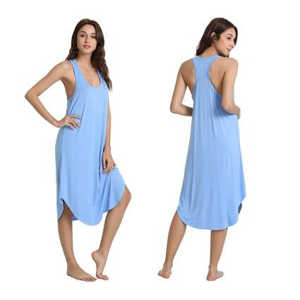 blue racerback bamboo nightgown