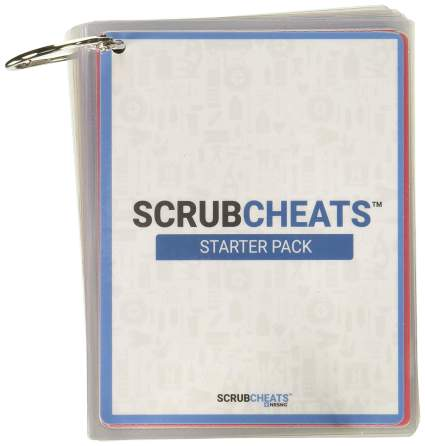 Scrubcheats 56 Heavy Duty Laminated Nursing Reference Cards by NRSNG