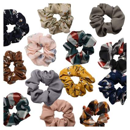 scrunchies in many different patterns