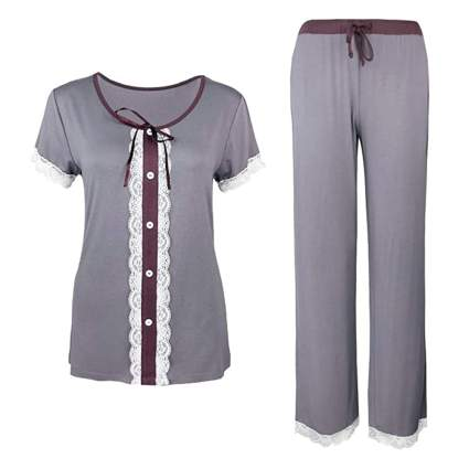 two tone bamboo pajamas