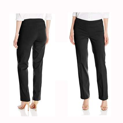 black relaxed fit slimming pants