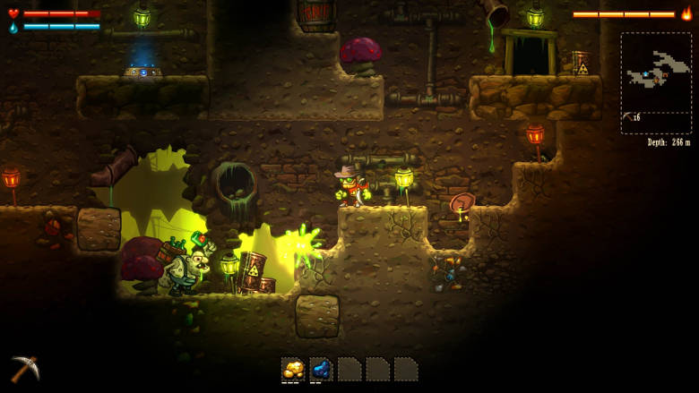 Steamworld Dig Best Nintendo Switch Games to play on the go