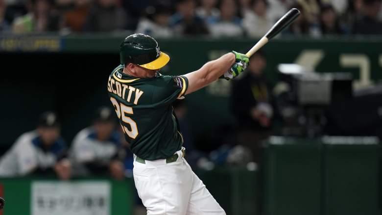 Steven Piscotty first home run MLB season