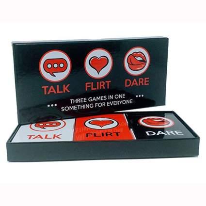 talk flirt or date card game