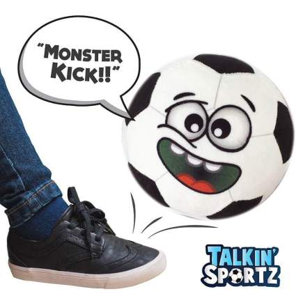 Talkin' Sports, Hilariously Interactive Toy Soccer Ball with Music and Sound FX