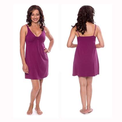 berry colored twist front bamboo nightgown