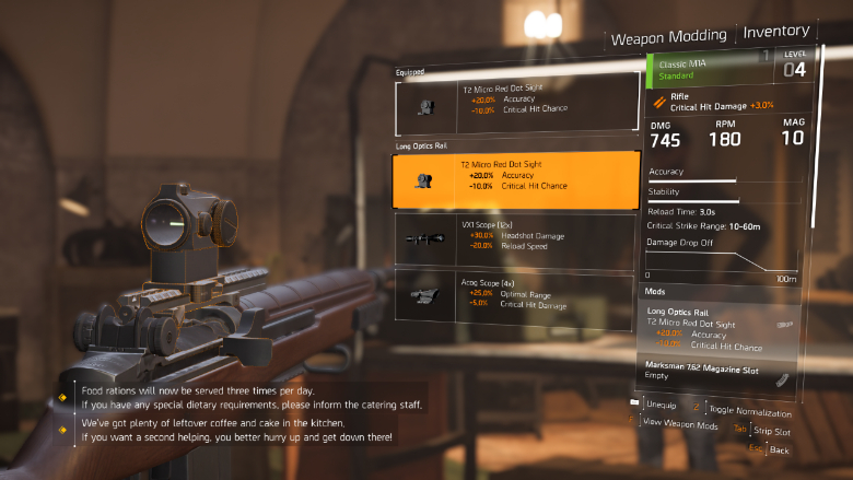 The Division 2 Equip Weapon Mods